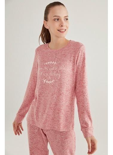 Penti Kadın Pembe Melanj Pink Feeling Sweatshirt PNTNDFA420SK Pembe